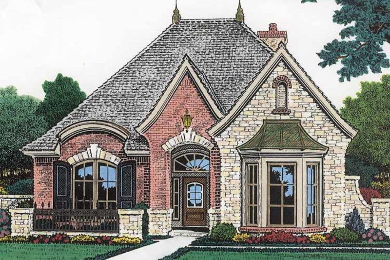 Country Exterior - Front Elevation Plan #310-1197 - Houseplans.com