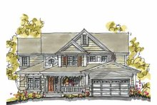 Dream House Plan - Traditional Exterior - Front Elevation Plan #20-2232