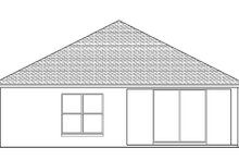 Architectural House Design - Adobe / Southwestern Exterior - Rear Elevation Plan #1058-95