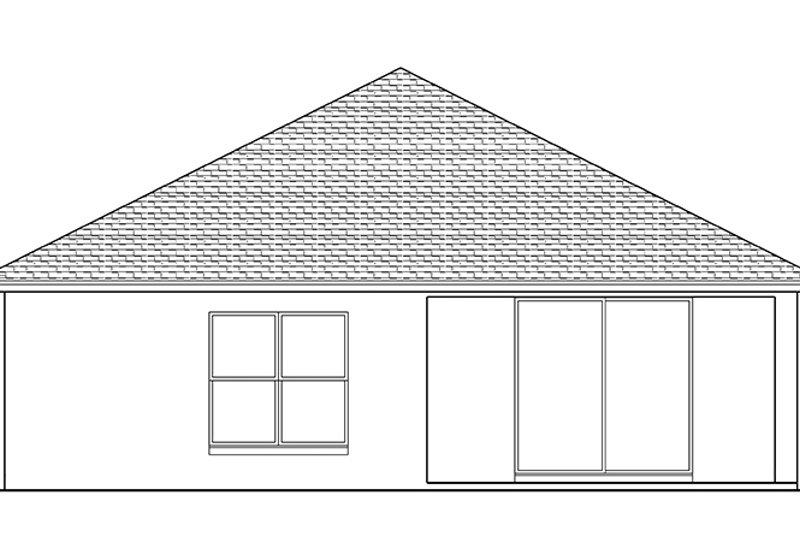 Adobe / Southwestern Exterior - Rear Elevation Plan #1058-95 - Houseplans.com