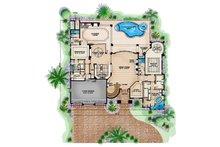 Mediterranean Floor Plan - Main Floor Plan Plan #1017-171