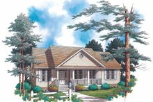 Home Plan - Country Exterior - Front Elevation Plan #48-799