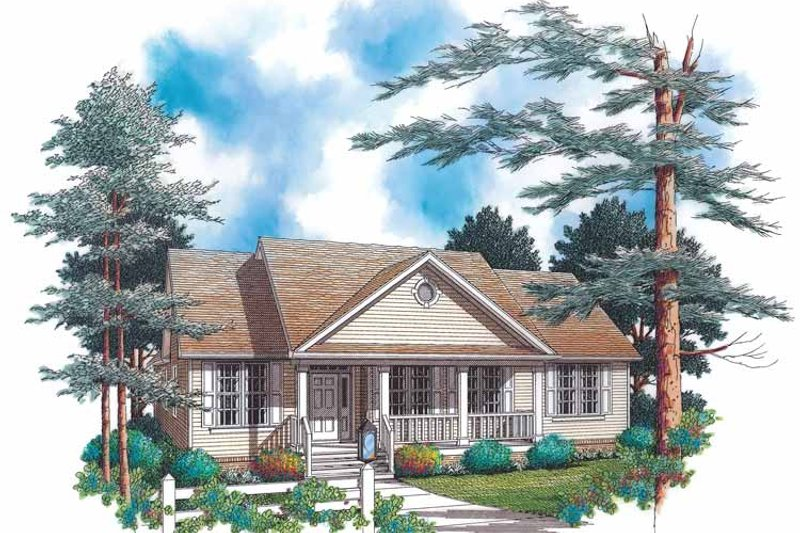 Country Exterior - Front Elevation Plan #48-799