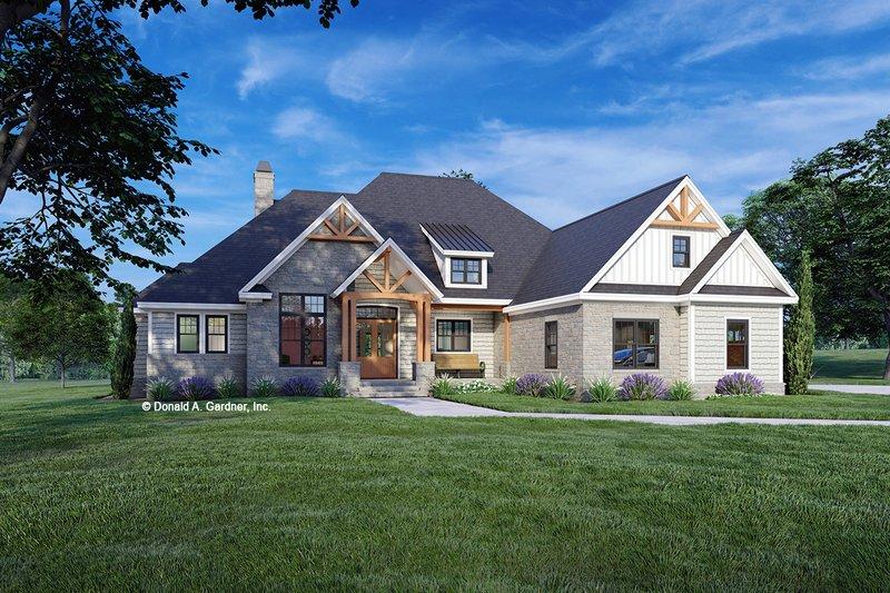 House Plan Design - Cottage Exterior - Front Elevation Plan #929-1132