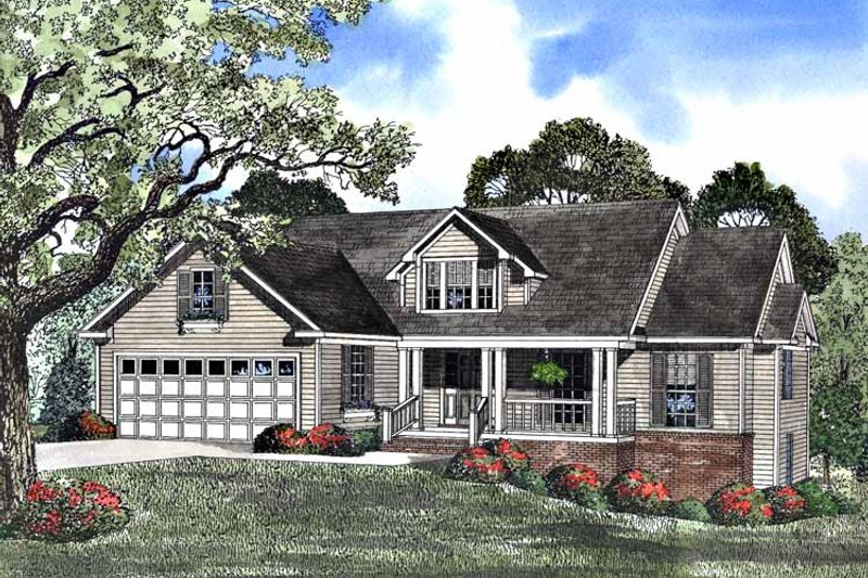Architectural House Design - Country Exterior - Front Elevation Plan #17-2957