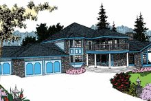 House Plan Design - Country Exterior - Front Elevation Plan #60-727