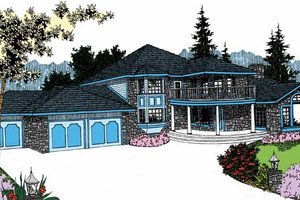 Country Exterior - Front Elevation Plan #60-727