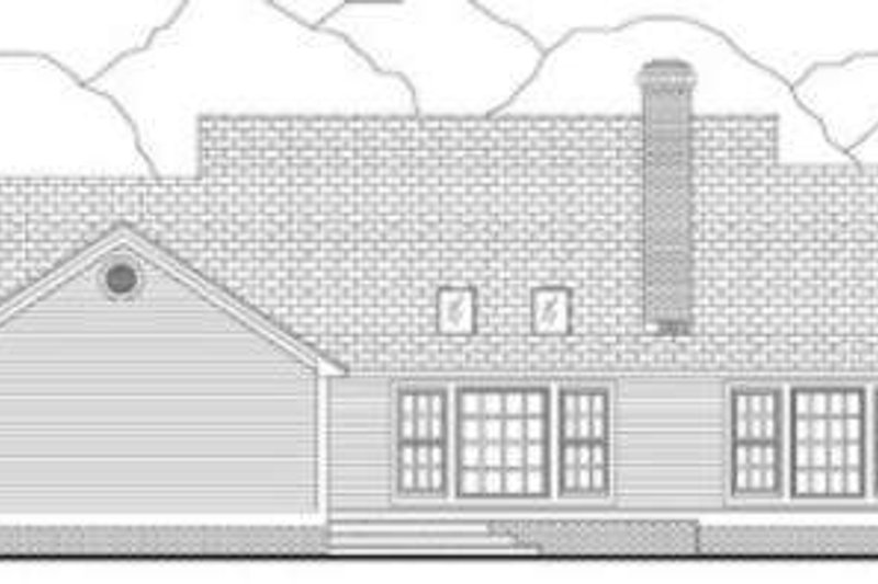 Southern Exterior - Rear Elevation Plan #406-208 - Houseplans.com