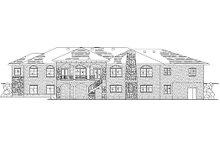 House Plan Design - Mediterranean Exterior - Rear Elevation Plan #5-357