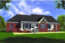 Farmhouse Exterior - Rear Elevation Plan #21-132
