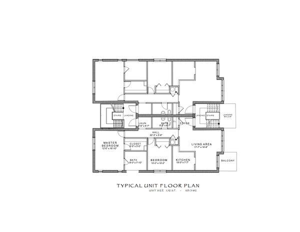 Contemporary Floor Plan - Upper Floor Plan Plan #535-6