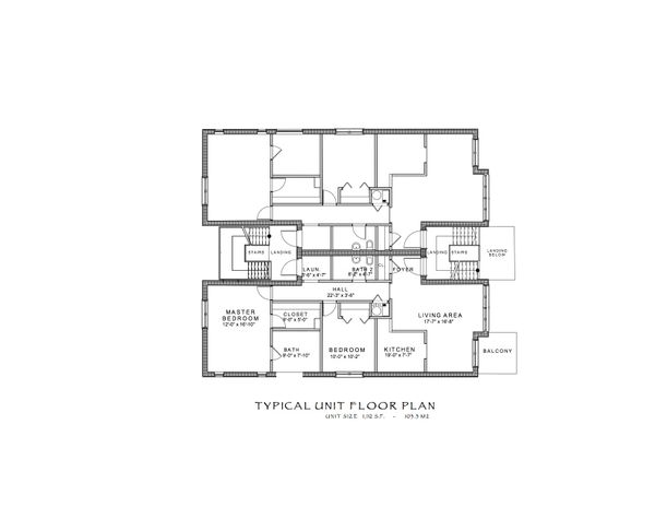 Contemporary Floor Plan - Upper Floor Plan #535-6
