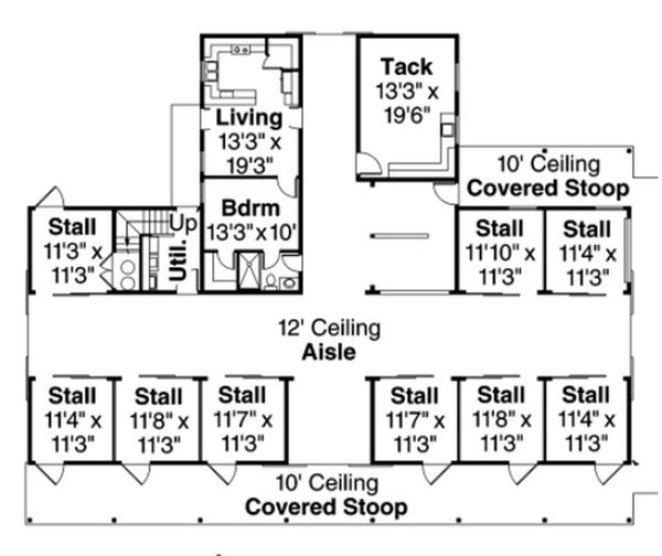 Country Floor Plan - Main Floor Plan Plan #124-798