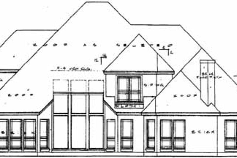 European Exterior - Rear Elevation Plan #40-183 - Houseplans.com