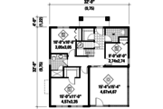 Contemporary Style House Plan - 3 Beds 2 Baths 1536 Sq/Ft Plan #25-4365 Floor Plan - Main Floor