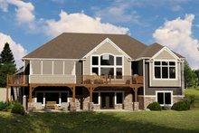 Architectural House Design - Craftsman Exterior - Rear Elevation Plan #1064-68