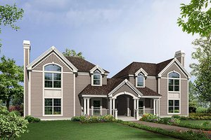 House Plan Design - Traditional Exterior - Front Elevation Plan #57-568