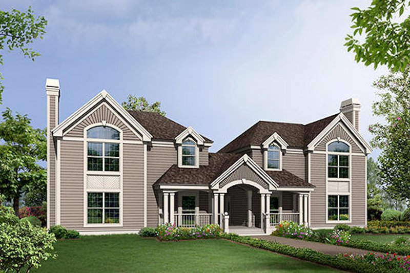 Traditional Exterior - Front Elevation Plan #57-568 - Houseplans.com