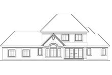 Home Plan - Traditional Exterior - Rear Elevation Plan #23-831
