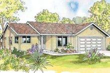 Cottage Exterior - Front Elevation Plan #124-592