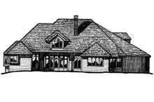 European Exterior - Front Elevation Plan #20-209