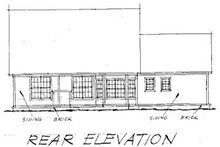 Traditional Exterior - Rear Elevation Plan #20-233