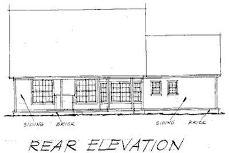 Traditional Exterior - Rear Elevation Plan #20-233 - Houseplans.com