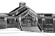 Craftsman Style House Plan - 4 Beds 3.5 Baths 2988 Sq/Ft Plan #451-10 Exterior - Other Elevation