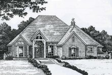 European Exterior - Front Elevation Plan #310-847