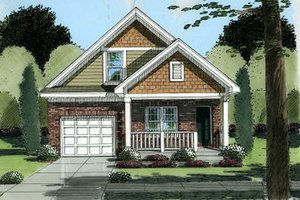 Cottage Exterior - Front Elevation Plan #46-394