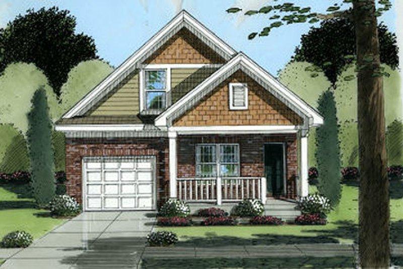 Cottage Exterior - Front Elevation Plan #46-394