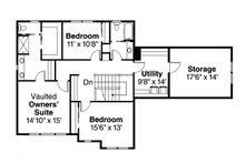 Country Floor Plan - Upper Floor Plan Plan #124-968