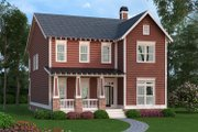 Craftsman Style House Plan - 4 Beds 2.5 Baths 3005 Sq/Ft Plan #419-260 Exterior - Front Elevation