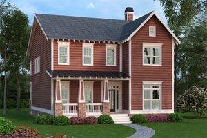 Craftsman Exterior - Front Elevation Plan #419-260