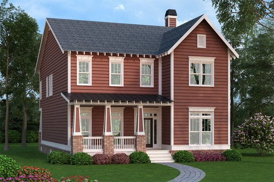 Craftsman Exterior - Front Elevation Plan #419-260