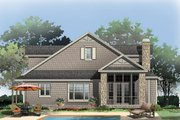 Bungalow Style House Plan - 3 Beds 2.5 Baths 1997 Sq/Ft Plan #929-38 Exterior - Rear Elevation