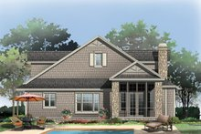 Home Plan - Bungalow Exterior - Rear Elevation Plan #929-38