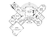 European Style House Plan - 4 Beds 3 Baths 2950 Sq/Ft Plan #929-29 Floor Plan - Main Floor Plan