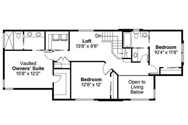 Modern Floor Plan - Upper Floor Plan Plan #124-922