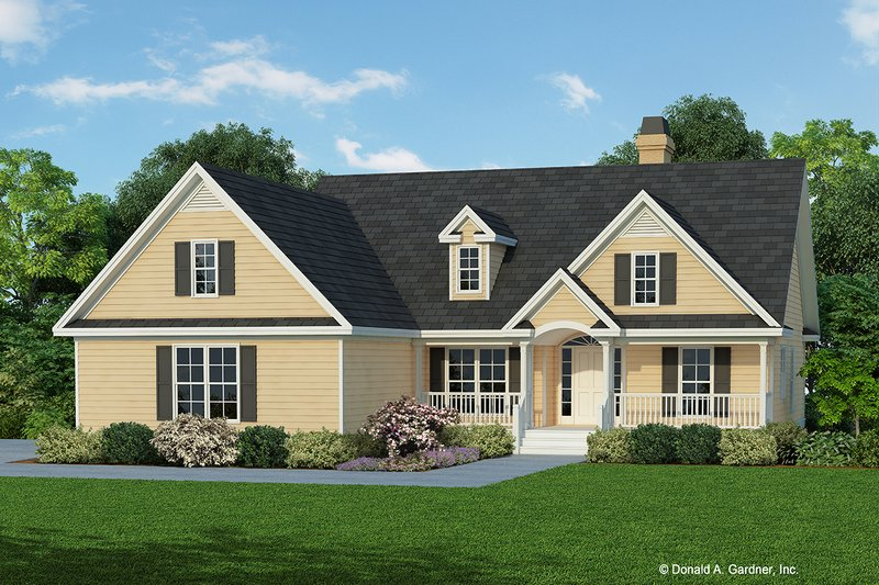 Ranch Style House Plan - 3 Beds 2 Baths 1521 Sq/Ft Plan #929-352 Exterior - Front Elevation