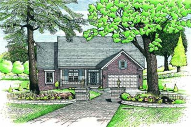 Traditional Exterior - Front Elevation Plan #20-524
