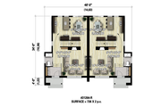Contemporary Style House Plan - 6 Beds 2 Baths 2832 Sq/Ft Plan #25-4516