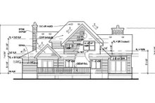 Country Exterior - Rear Elevation Plan #120-140