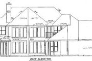 Ranch Style House Plan - 5 Beds 3.5 Baths 3770 Sq/Ft Plan #52-114 Exterior - Rear Elevation