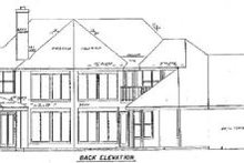 Architectural House Design - Ranch Exterior - Rear Elevation Plan #52-114