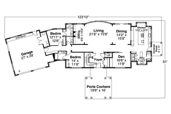 Dream House Plan - Colonial Floor Plan - Main Floor Plan #124-1230