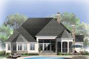 European Style House Plan - 4 Beds 3.5 Baths 2673 Sq/Ft Plan #929-21 Exterior - Rear Elevation