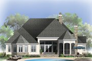 European Style House Plan - 4 Beds 3.5 Baths 2673 Sq/Ft Plan #929-21 Exterior - Rear Elevation
