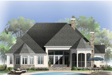 European Exterior - Rear Elevation Plan #929-21