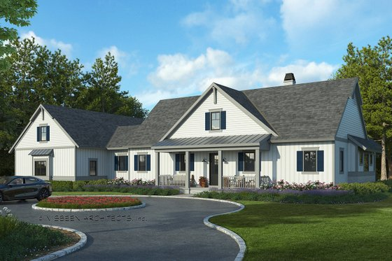 Farmhouse Exterior - Front Elevation Plan #928-325